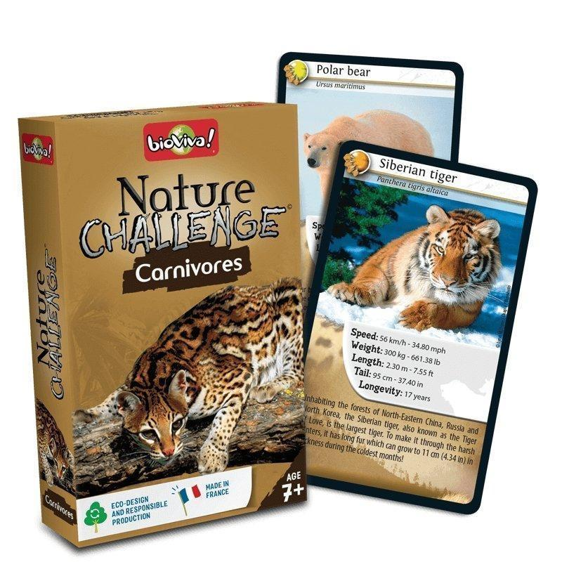 Nature Challenge - Carnivores. A group card game for ages 7+