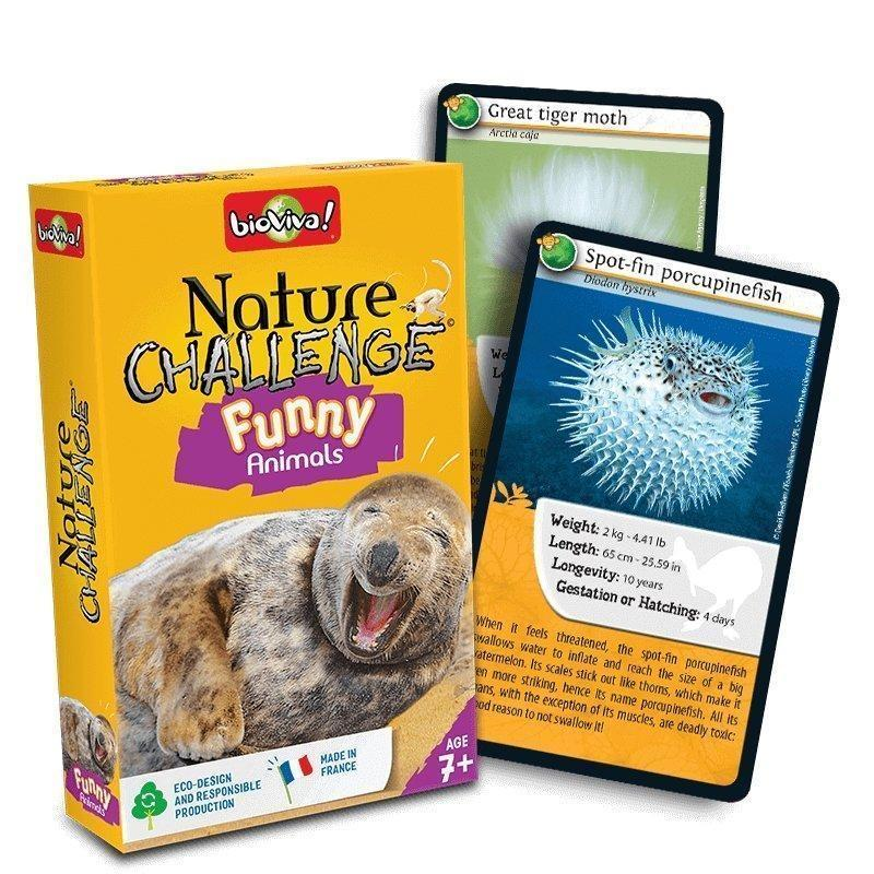 Nature Challenge - Funny Animals. A group card game for ages 7+