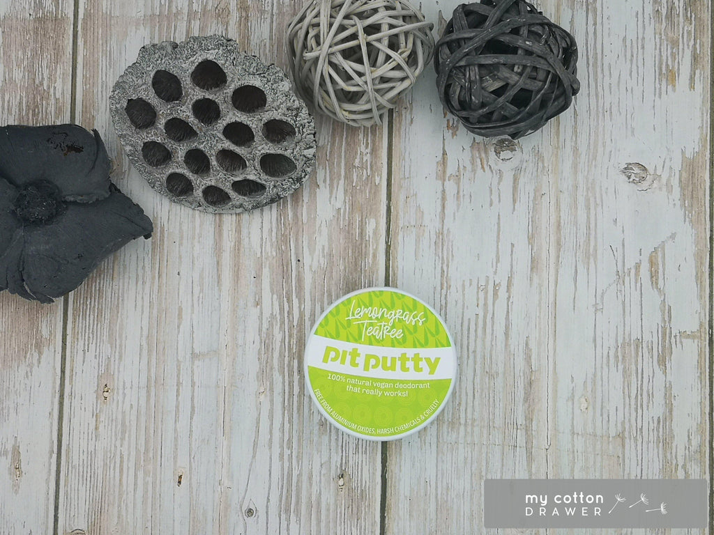 Pit Putty natural deodorant zero waste lemongrass teatree