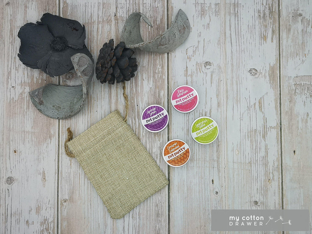 pit putty natural deodorant sample pot gift set