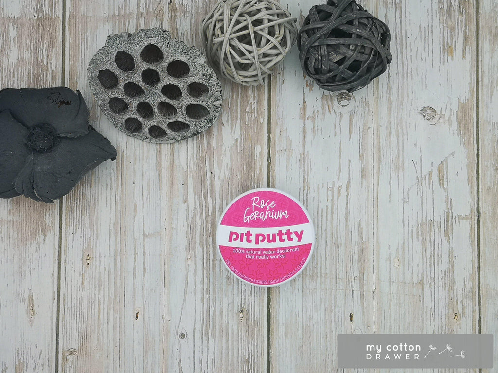 Pit Putty natural deodorant zero waste rose geranium