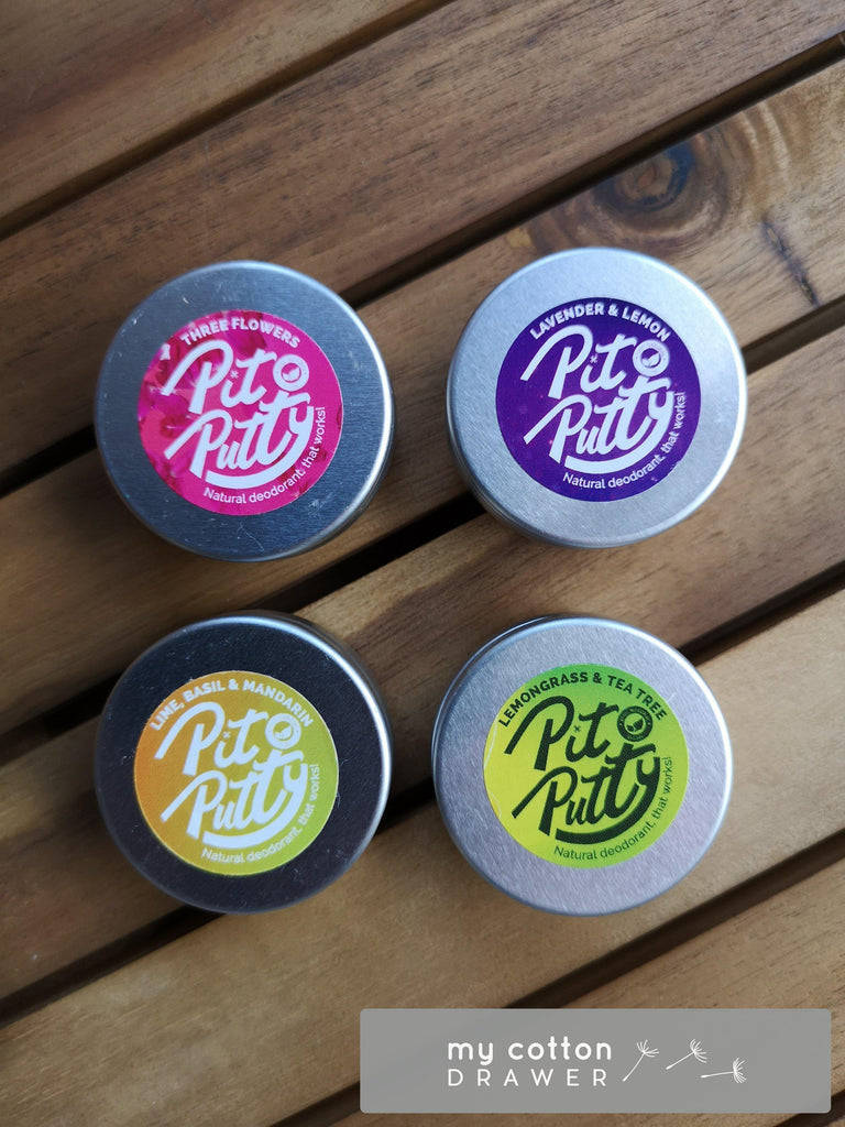 pit putty natural deodorant sample pot
