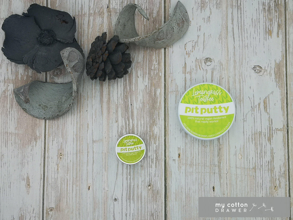 pit putty natural deodorant sample pot lemongrass teatree