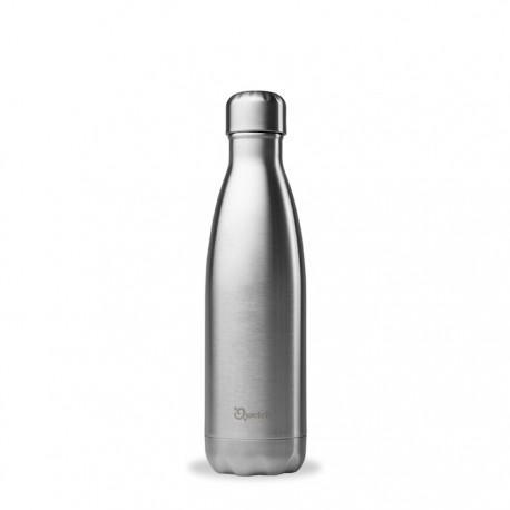 Qwetch 500ml insulated steel bottle - Brushed Steel