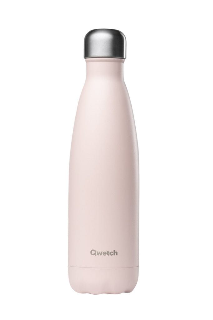 Qwetch 500ml insulated steel bottle - Pastel Pink