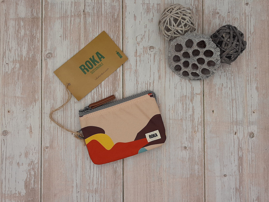 Roka London Carnaby Wallet - Retro Camo SUSTAINABLE