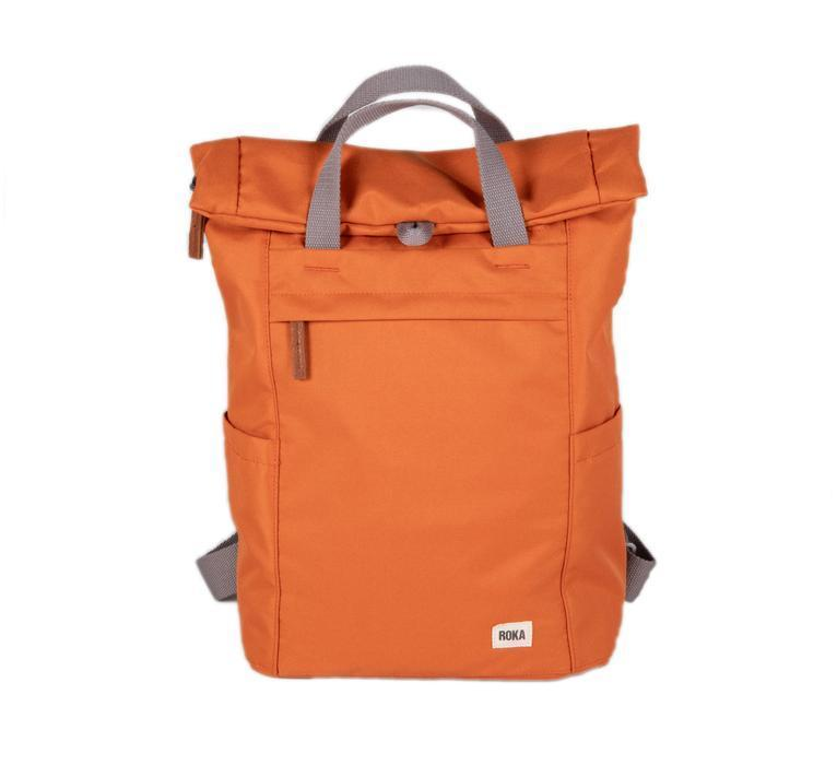 Roka London Sustainable Finchley bag backpack atomic orange