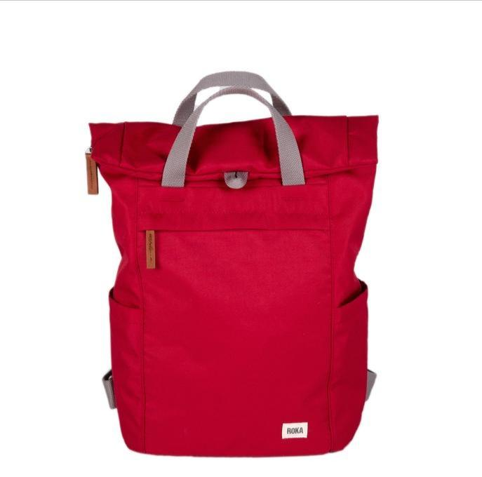 Roka London Sustainable Finchley bag backpack red