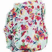 Smart bottoms 3.1 organic cotton cloth nappy aqua floral