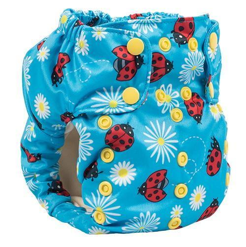 Smart bottoms 3.1 organic cotton cloth nappy little lady bugs
