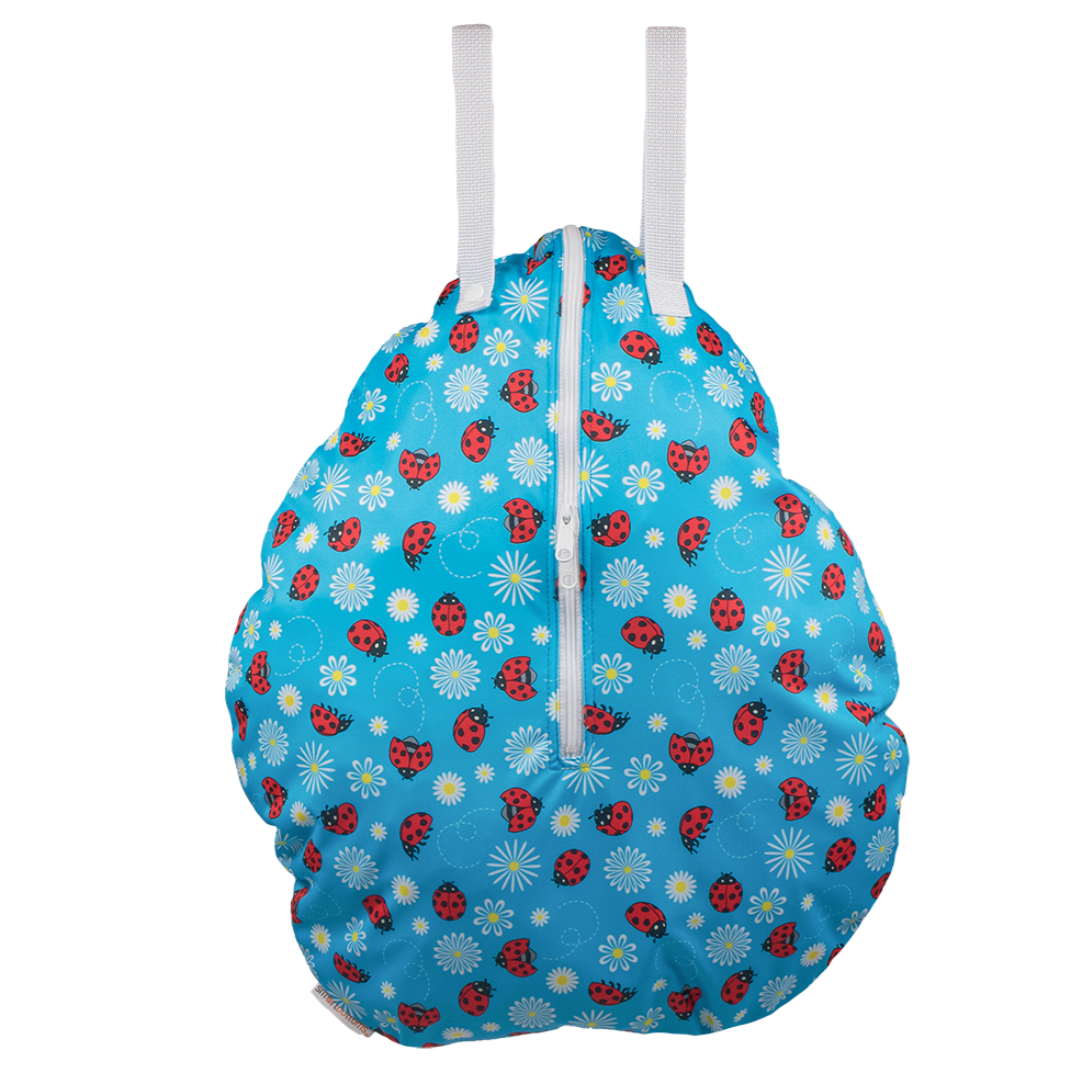 Smart bottoms hanging wetbag for cloth nappies little ladybugs