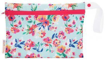 Smart bottoms small wet bag for Cloth nappies aqua floral
