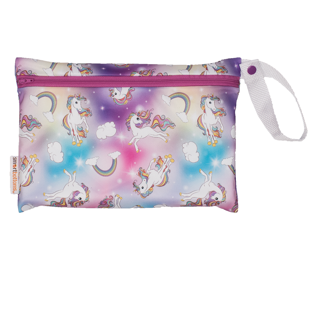 Smart bottoms small wet bag for Cloth nappies chasing rainbows