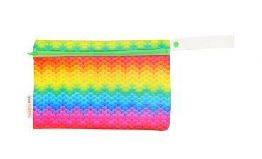 Smart bottoms small wet bag for Cloth nappies rainbow scales