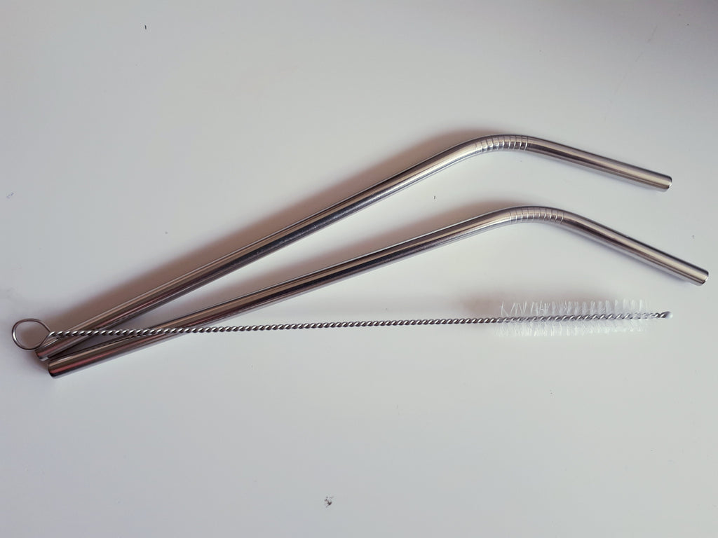 Stainless steel straws and brush