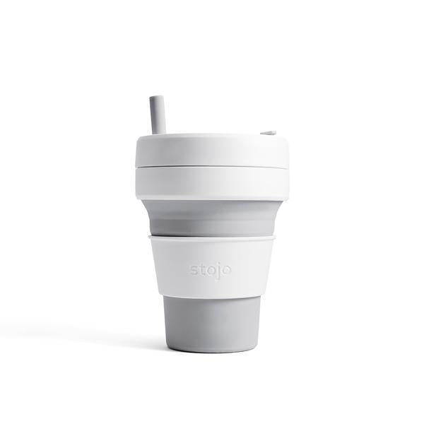 Stojo collapsible coffee cup dove