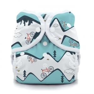 Thirsties reusable cloth nappy cover wrap mountain bike
