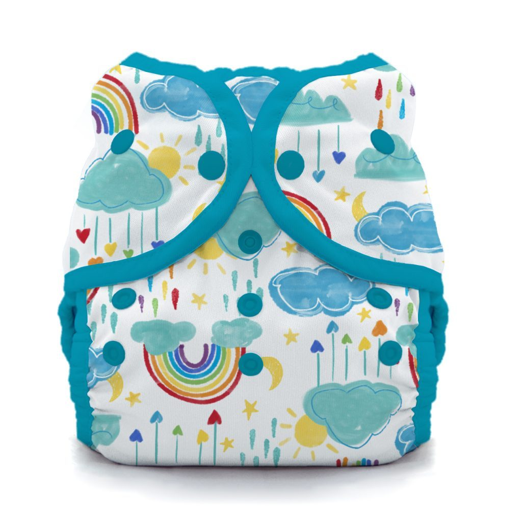 Thirsties reusable cloth nappy cover wrap Rainbows
