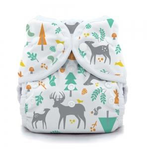 Thirsties reusable cloth nappy cover wrap Woodland