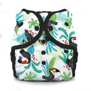 Thirsties reusable cloth nappy cover wrap toucan