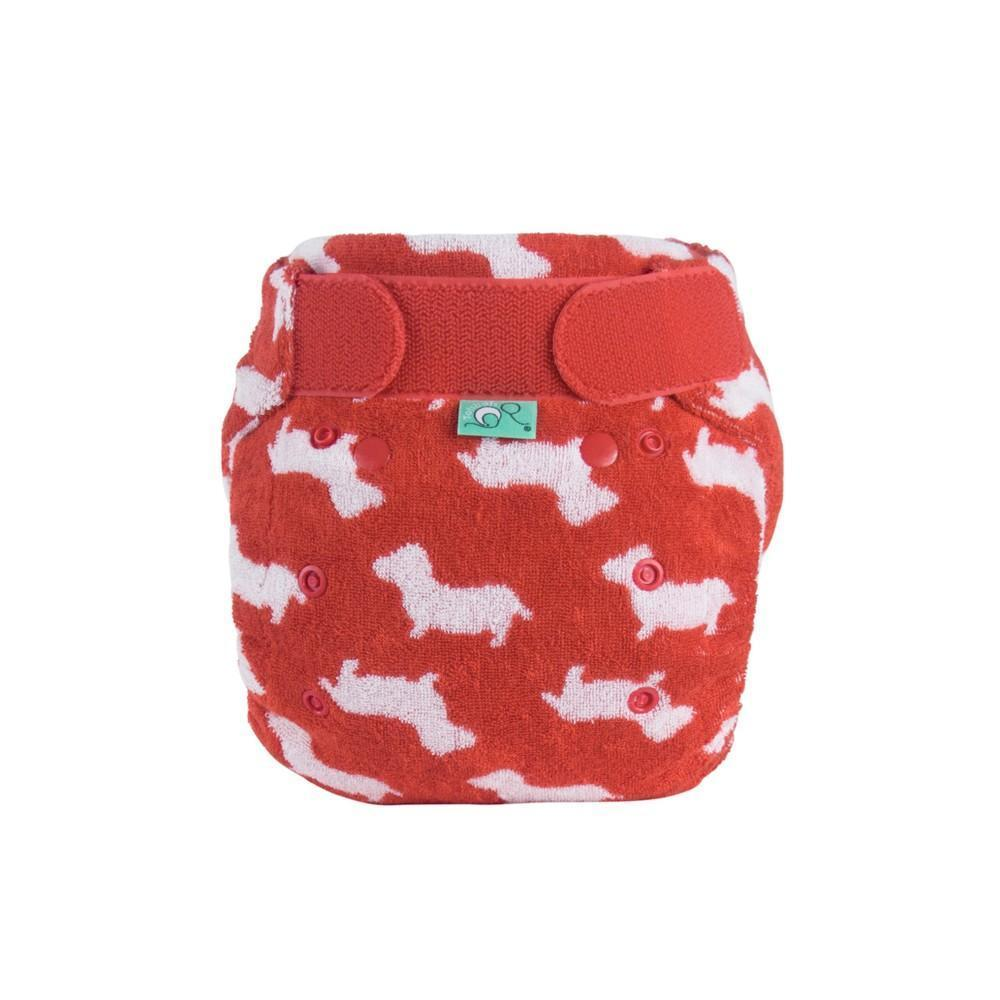 Tots bots bamboozle stretch reusable cloth nappy fitted for night time
