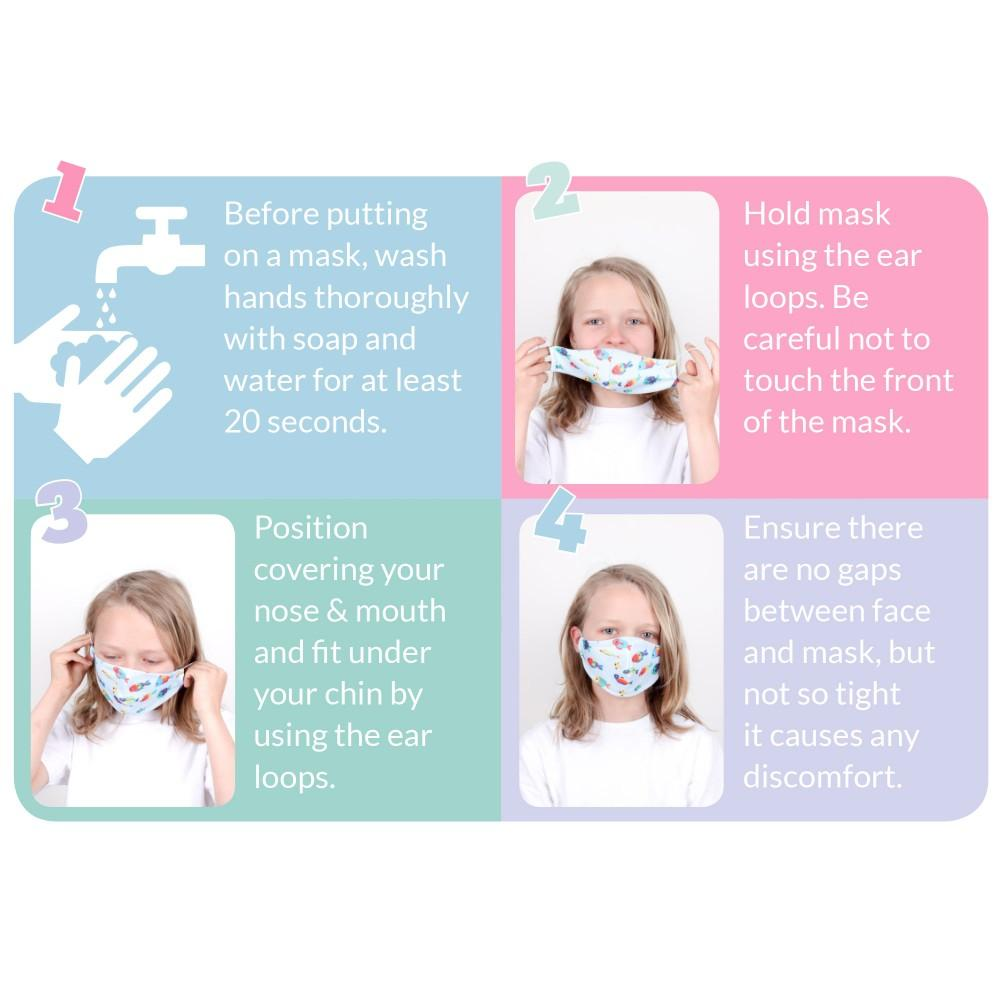 Tots Bots - KIDS Face Covering - Little Stars