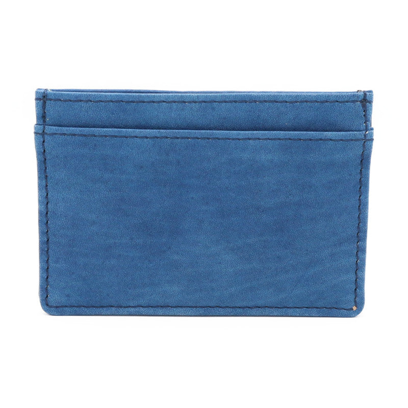 Sukumo indigo leather Card case (Medium blue)