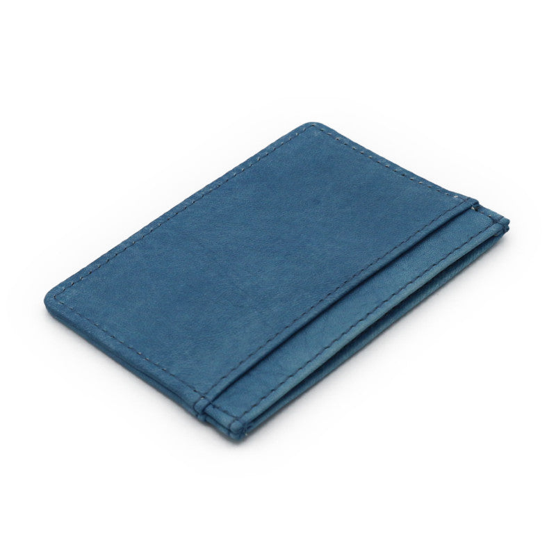 Sukumo indigo leather Card case (Light blue)