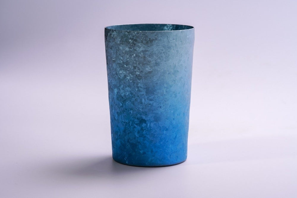 PMQ Limited color-Titanium pottery tumbler (Gradation Blue)