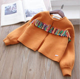 Girls Knit Tassel Sweater
