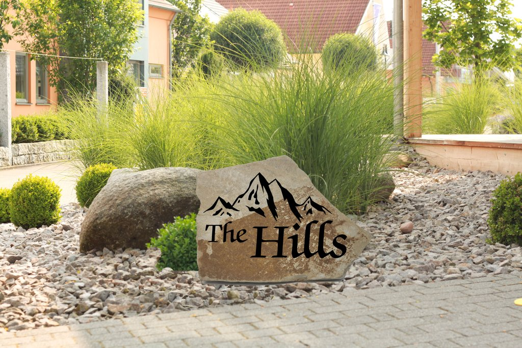 Custom Engraved Flagstone Sign