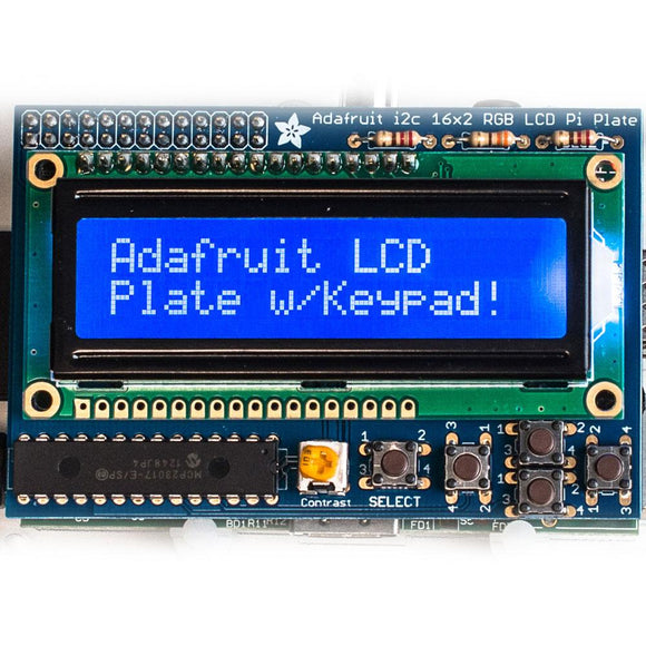 Adafruit LCD and Keypad Kit for Raspberry Pi (White on Blue)