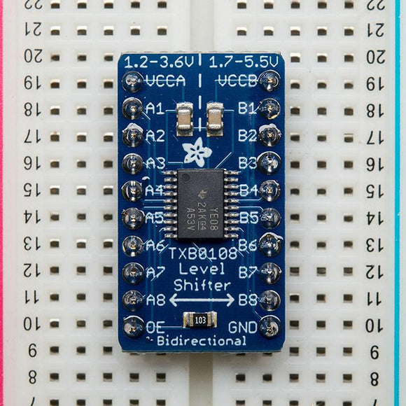 Adafruit 8-channel Bi-directional Logic Level Converter (TXB0108)