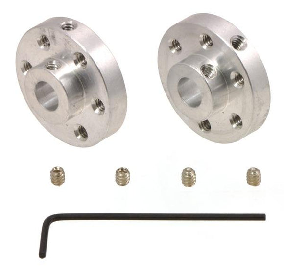 Universal Aluminum Mounting Hub Pair (1/4″ Shaft 4-40 Holes)