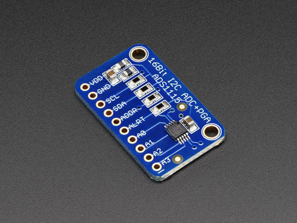 Adafruit 16-Bit ADC (4-Channel with Programmable Gain Amplifier ADS1115)