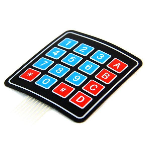 Sealed Keypad with Sticker (16 Buttons)