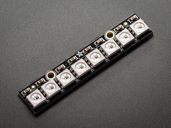 Adafruit NeoPixel Stick (8 RGB LED) WS2812 5050 RGB LED with Integrated Drivers