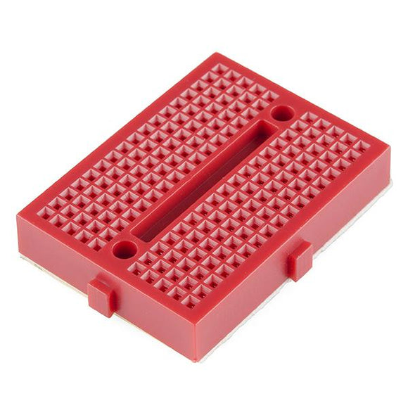 Mini-Breadboard Modular with Self-Adhesive (170 Tie Point Red)