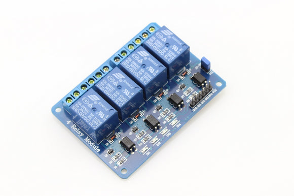 4-Channel Relay Module (5VDC - 250V 10A)