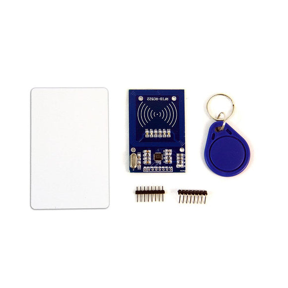 RFID/NFC Card Reader Kit (13.56MHz, MFRC522 Module + Card + Key Chain)