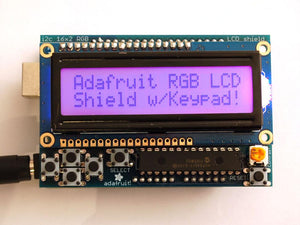 Adafruit RGB LCD Shield Kit for Arduino w/ 16x2 Character Display (Only 2 pins used Positive Display)