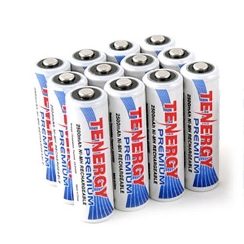 Tenergy Premium AA 2500mAh High Capacity NiMH Rechargeable Battery (12-Pack)