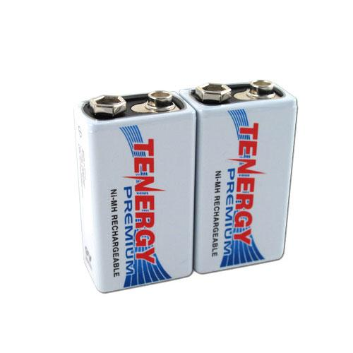 Tenergy Premium 9V 200mAh High Capacity NiMH Rechargeable Battery (2-Pack)