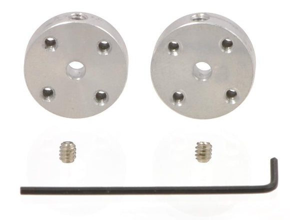 Universal Aluminum Mounting Hub (3mm Shaft M3 Holes 2-Pack)