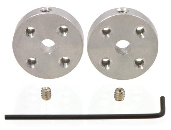 Universal Aluminum Mounting Hub (4mm Shaft M3 Holes 2-Pack)