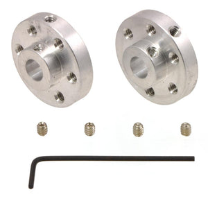 Universal Aluminum Mounting Hub (1/4'' Shaft M3 Holes 2-Pack)