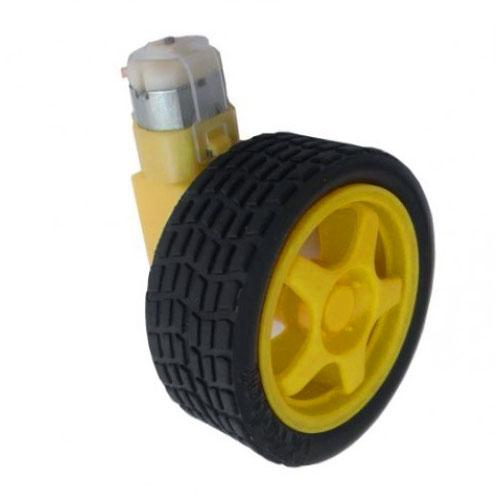 120:1 Plastic Gearmotor and Wheel Set
