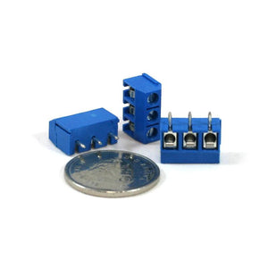 Screw Terminal Blue (5.0mm Pitch 3-pin 3-pack)