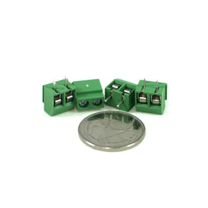 Screw Terminal Green (5.0mm Pitch 2-pin 4-pack)