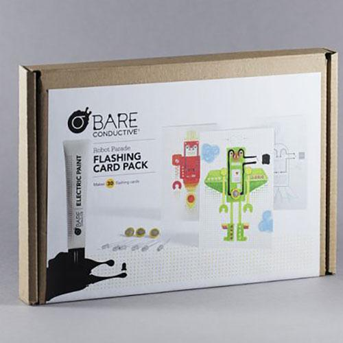 BARE Conductive Flashing Card Activity Pack (Robot Parade)